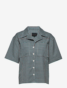 Seven Shirt - TURQUOISE & BROWN CHECKS