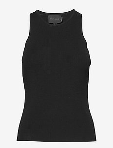 Claire Knitted Tank Top - Ærmeløse toppe - black