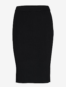 Rebecca Knitted Skirt - midi skirts - black