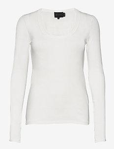 Indy T-Shirt l/s - tops met lange mouwen - white