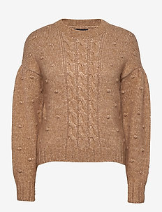 Ellie  Knitwear - swetry - camel