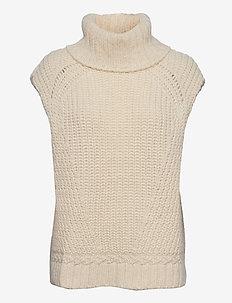 Vanya Knit Vest - strikveste - off white