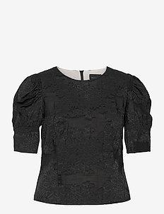 Wiliam Ltd Blouse - kortærmede bluser - black
