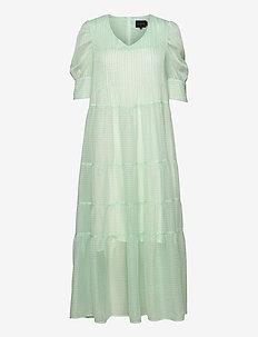 Silla Dress - sommerkjoler - light green checks