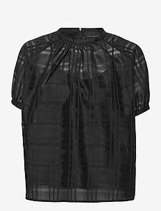 Gabriella Blouse - blouses met korte mouwen - black