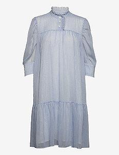 Liva Dress - sommerkjoler - light blue checks