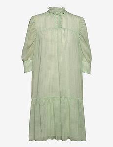 Liva Dress - sommerkjoler - light green checks