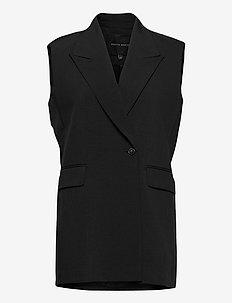 Phoebe Vest - knitted vests - black