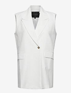 Phoebe Vest - knitted vests - off white
