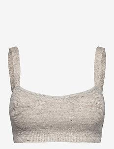 Paige Top - crop tops - light grey melange