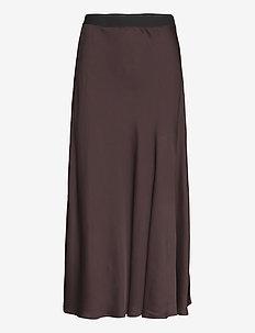 Sia Skirt - lange rokken - coffee brown