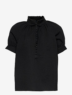 Gajol Blouse - kortærmede bluser - black