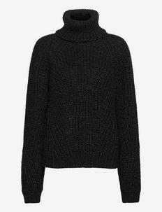 Henny Knit Turtleneck - rullekraver - black melange