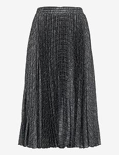 Nussa Snake Skirt - midi nederdele - snake grey