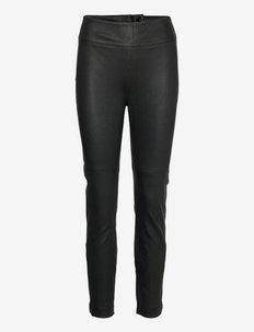 Easton Leggings - læderbukser - black