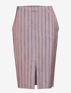 Penelope Skirt - midi - lilac stripe
