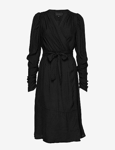 Dolly Wrap Dress - slå-om-kjoler - black