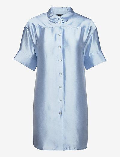 Melody Shirt Dress - skjortekjoler - light blue
