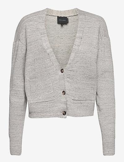 Yves Cardigan - cardigans - light grey melange