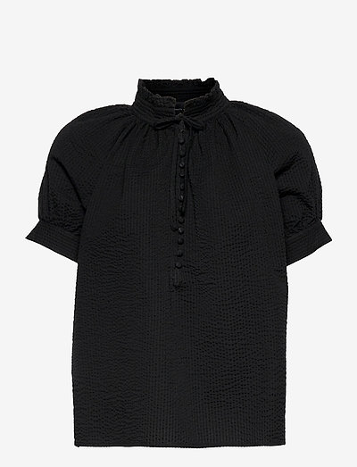 Gajol Blouse - short-sleeved blouses - black
