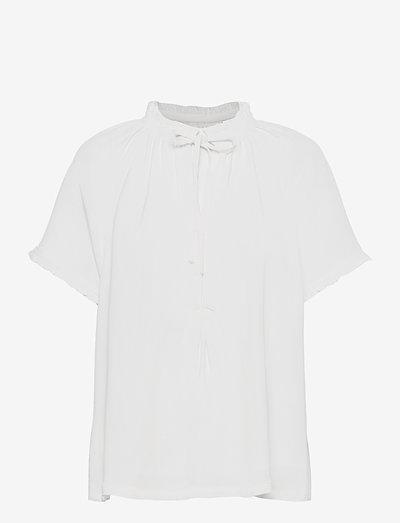 Lakiin Blouse - kortærmede bluser - white