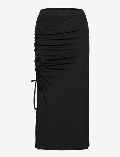 Gino Skirt - midi nederdele - black