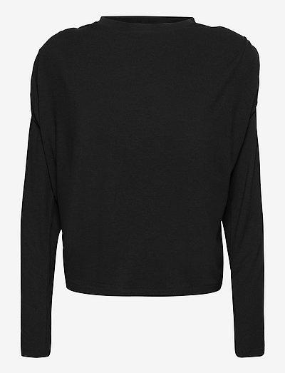 Smilla Blouse - long sleeved blouses - black