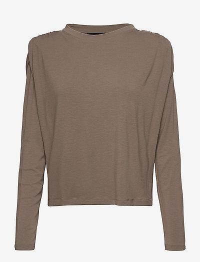 Smilla Blouse - long sleeved blouses - khaki