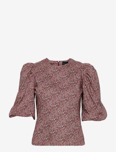 Jordan Blouse Liberty - short-sleeved blouses - red liberty