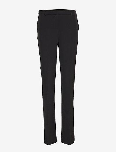 Nanna Pants - straight leg trousers - black