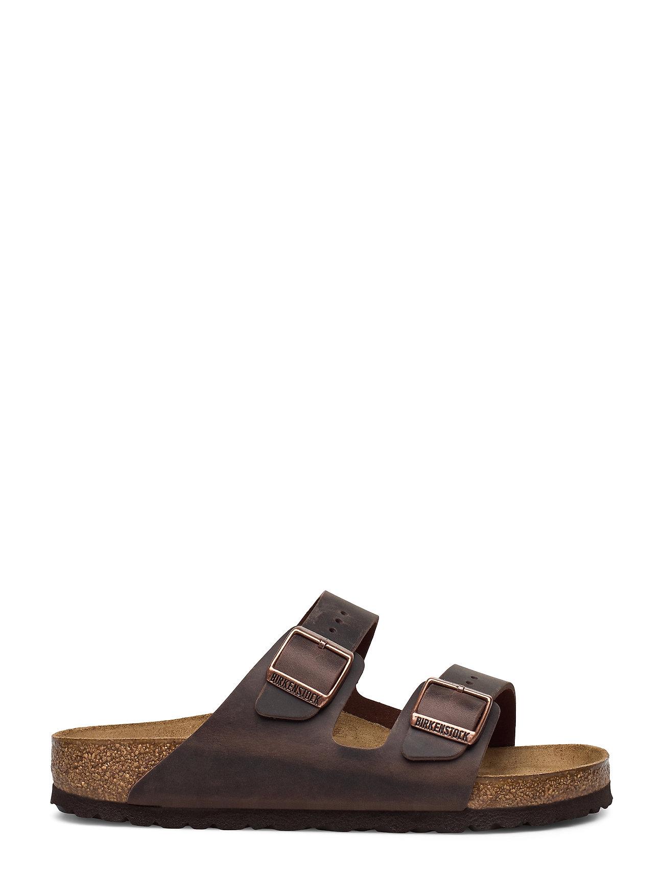Birkenstock - Arizona - Oiled Leather - platte sandalen - habana - 1
