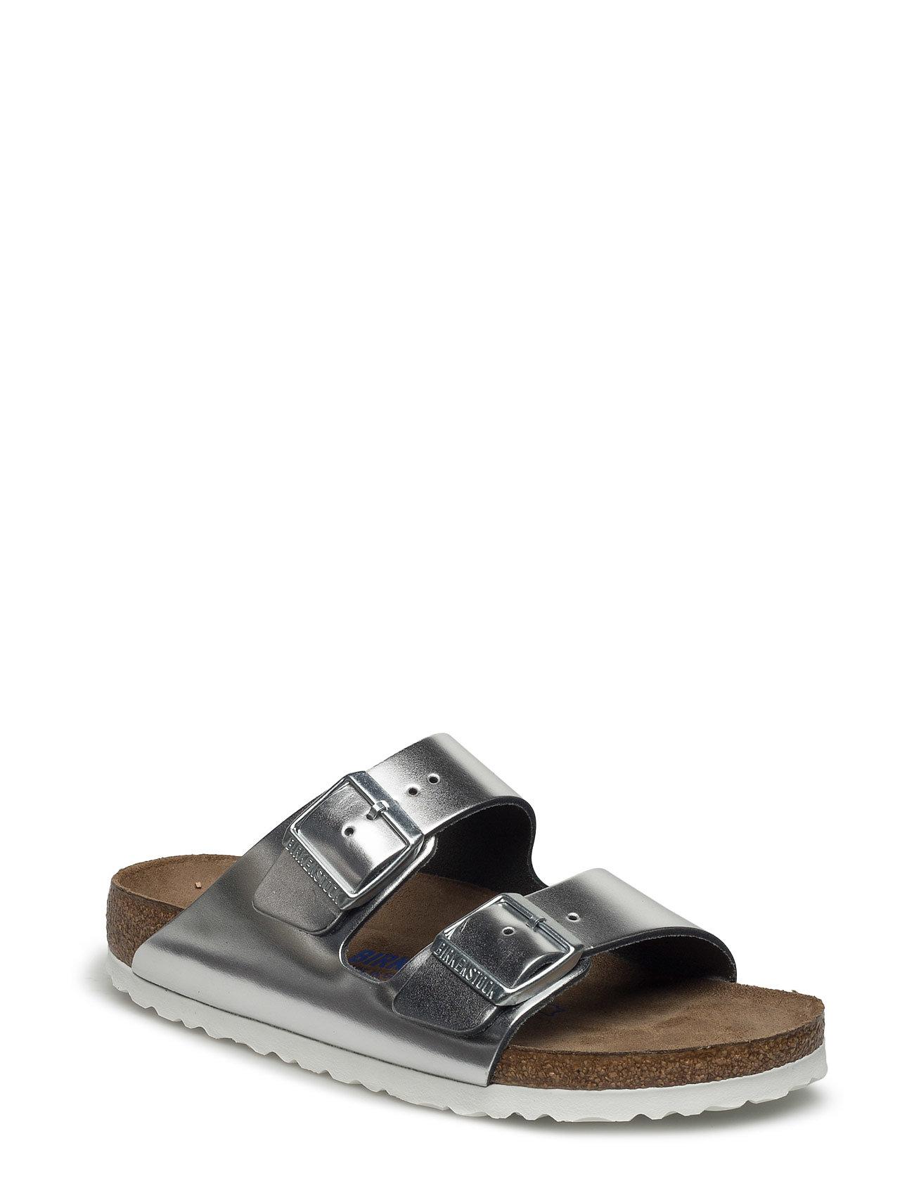 d57c2b13d425 Arizona flade sandaler fra Birkenstock til dame i Sølv - Pashion.dk