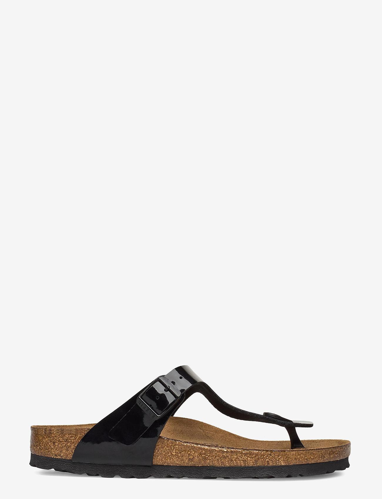 Birkenstock - Gizeh - flade sandaler - black patent - 1
