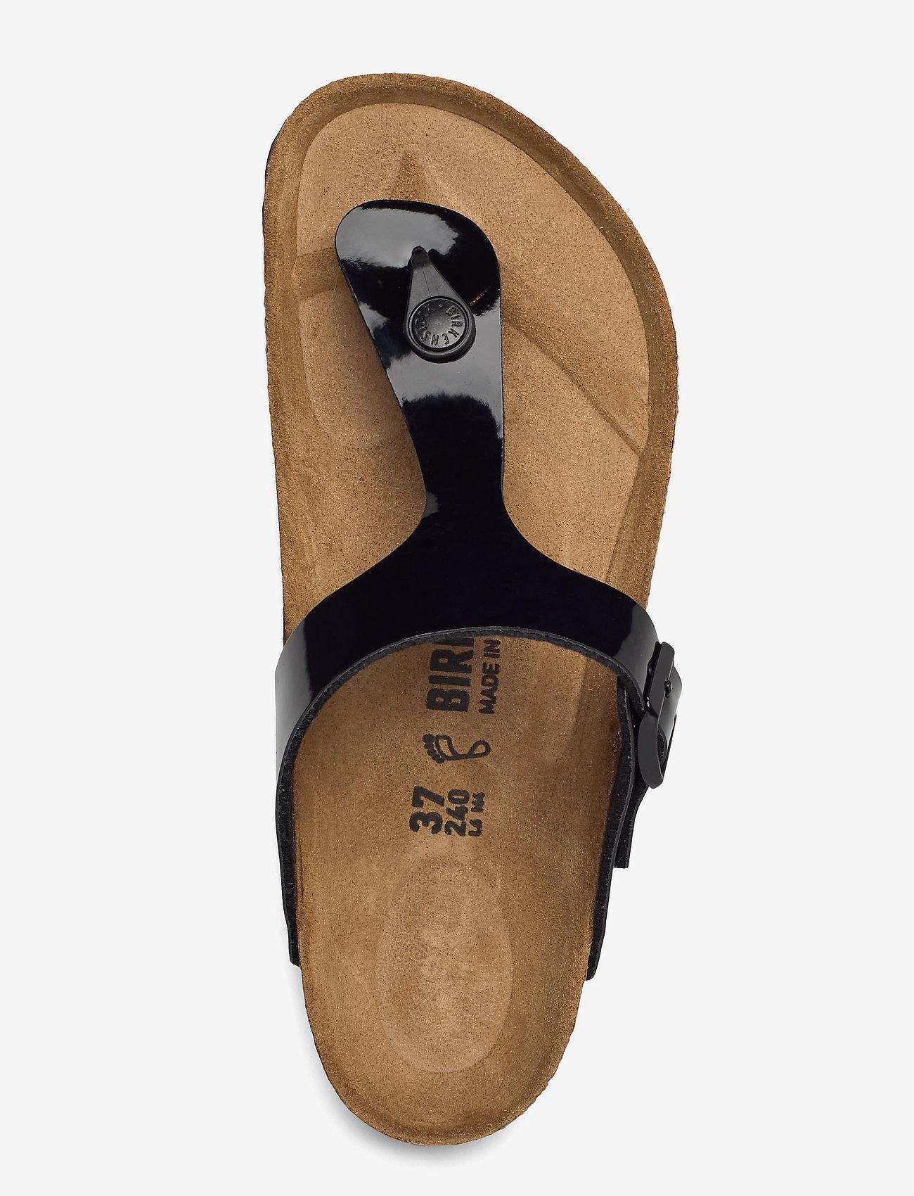 Birkenstock - Gizeh - flade sandaler - black patent - 3