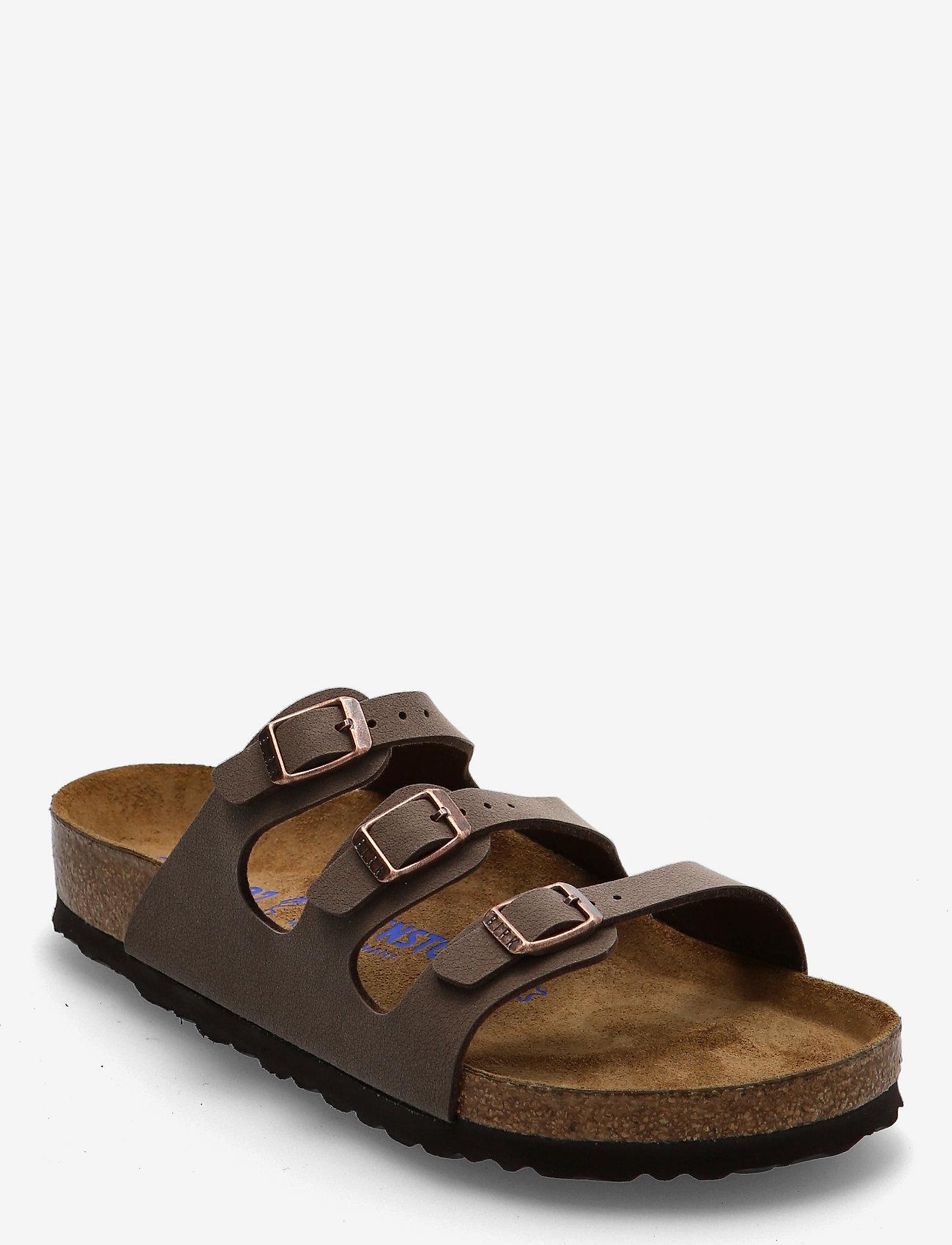 Birkenstock - Florida Soft Footbed - flade sandaler - mocca - 0
