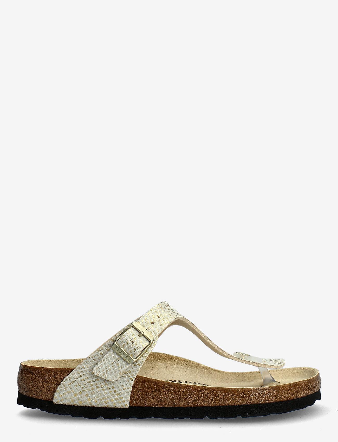 Birkenstock - Gizeh - flade sandaler - shiny python egsehell/gold - 1