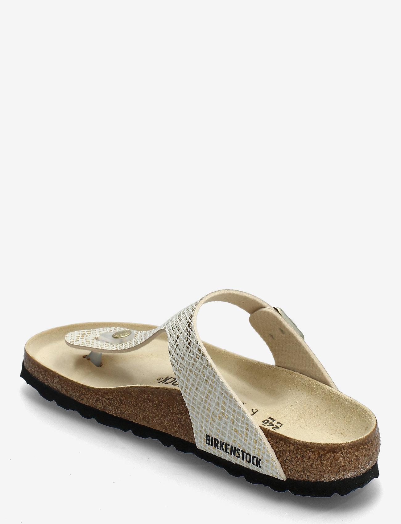 Birkenstock - Gizeh - flade sandaler - shiny python egsehell/gold - 2