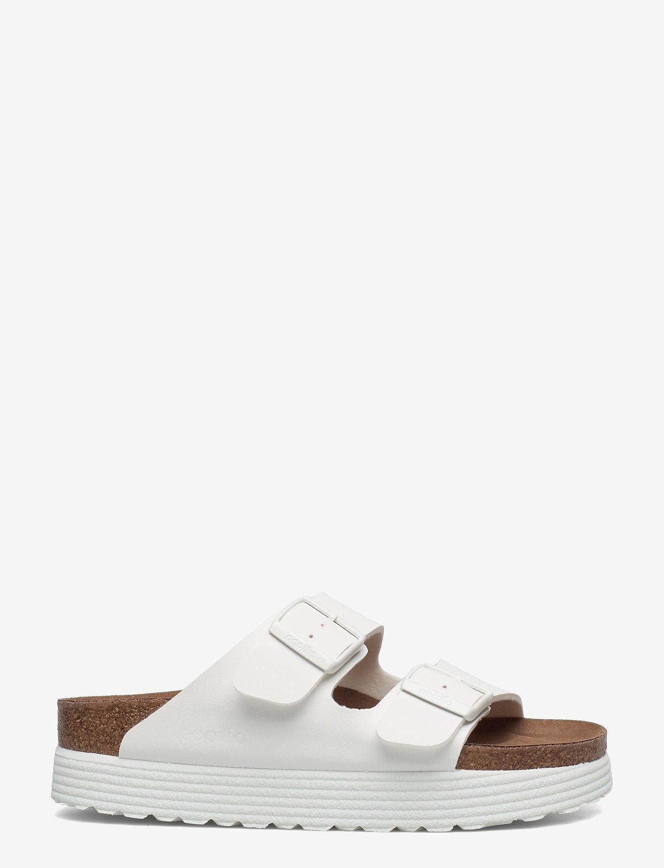 Birkenstock - Arizona Grooved Vegan - flade sandaler - white - 1