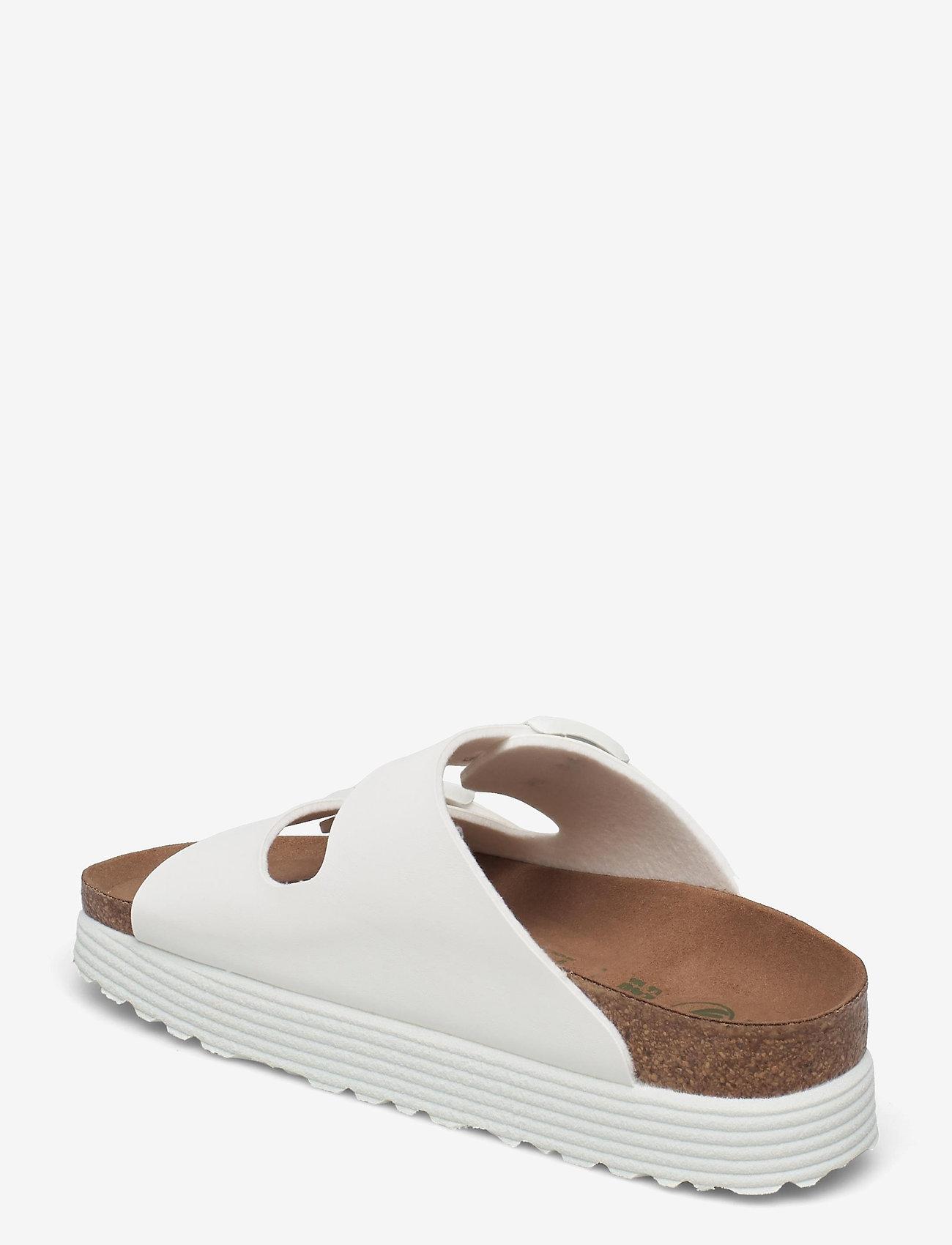 Birkenstock - Arizona Grooved Vegan - flade sandaler - white - 2