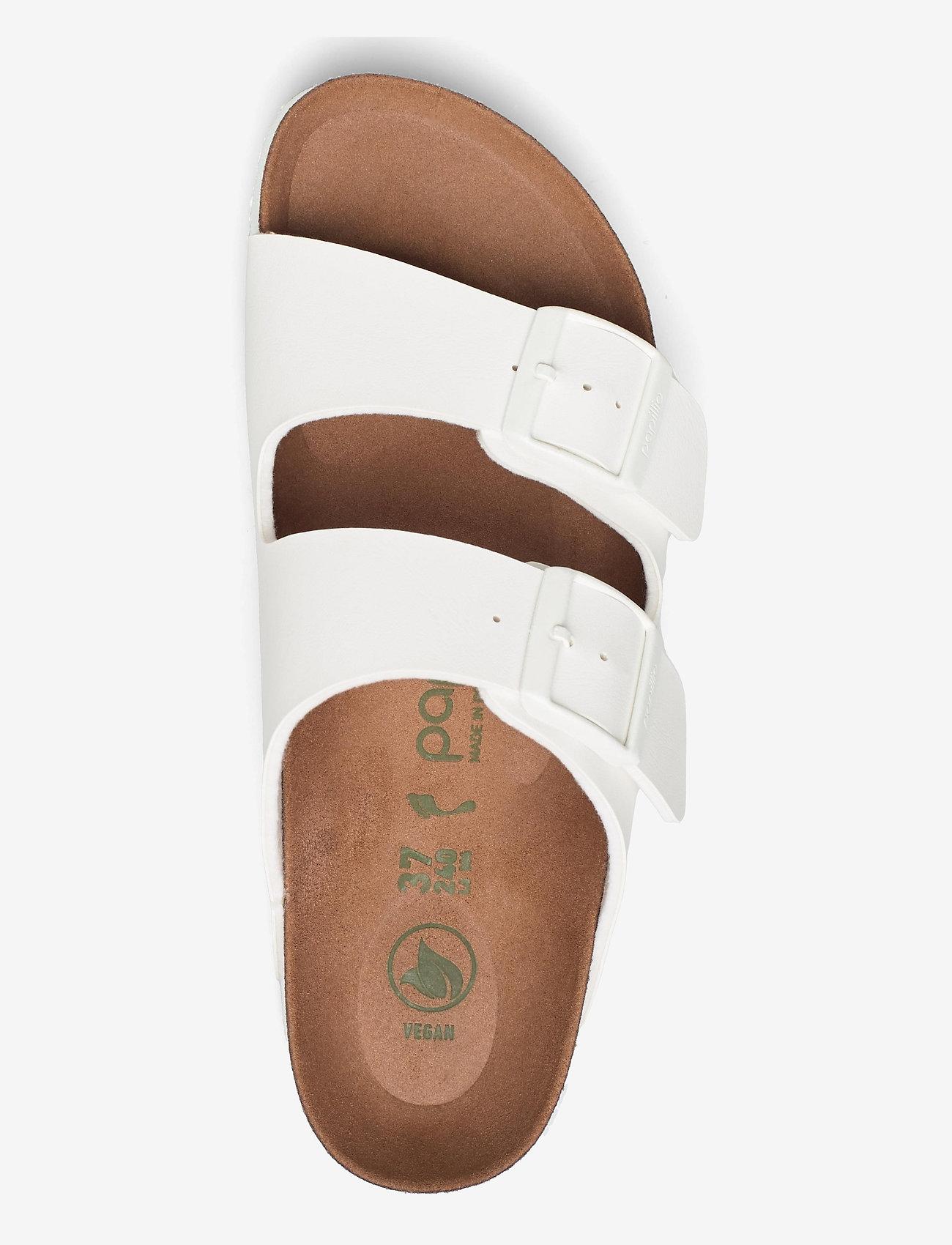 Birkenstock - Arizona Grooved Vegan - flade sandaler - white - 3