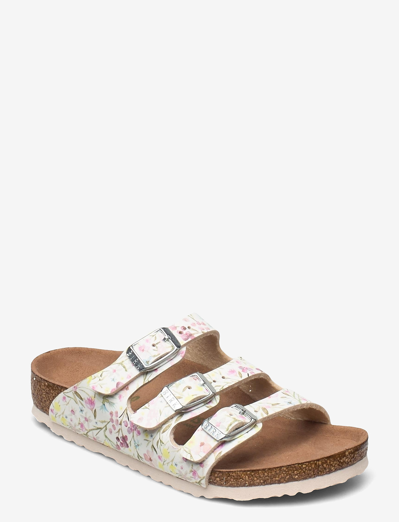 Birkenstock - Florida Vegan - schuhe - watercolor flower white - 0