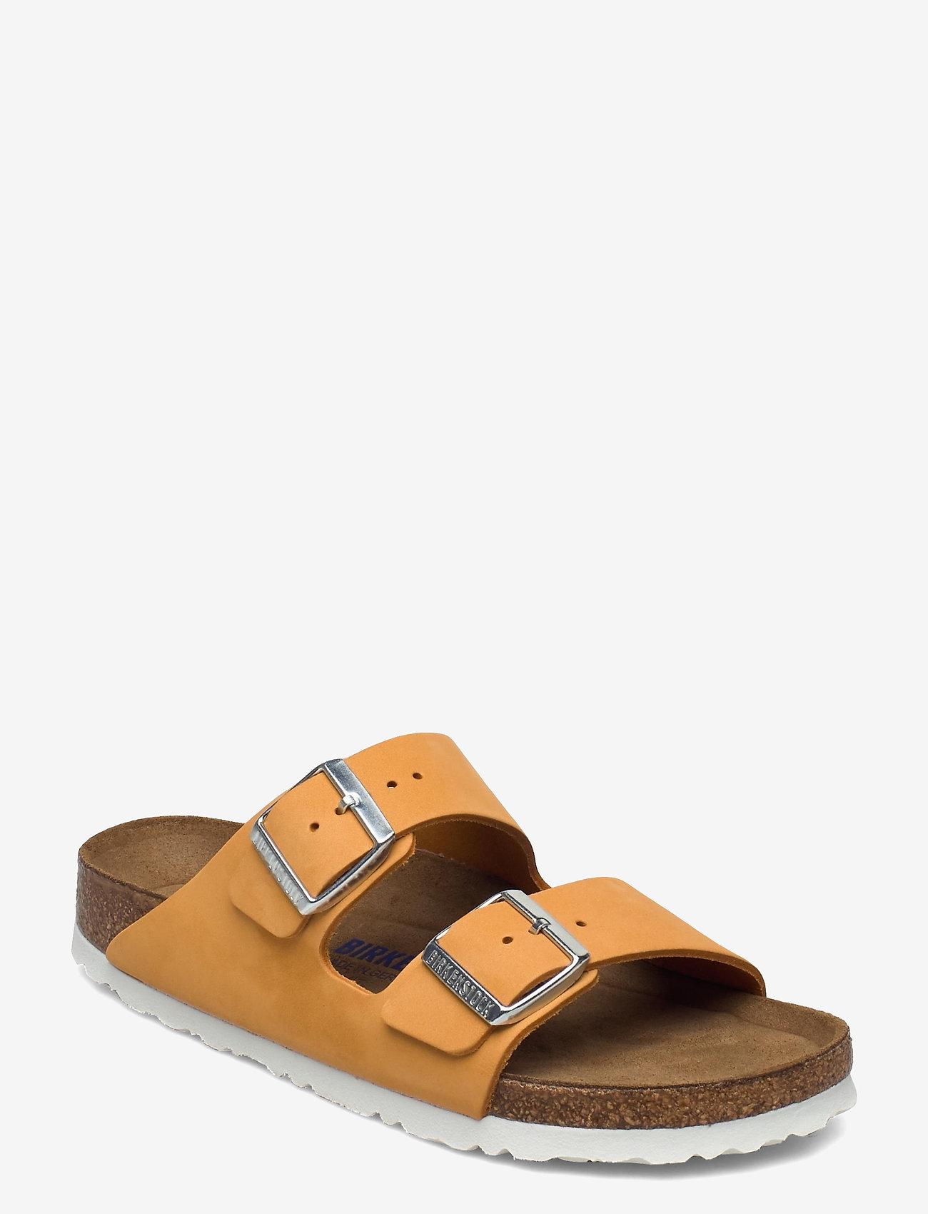 Birkenstock - Arizona Soft Footbed - flade sandaler - apricot - 0