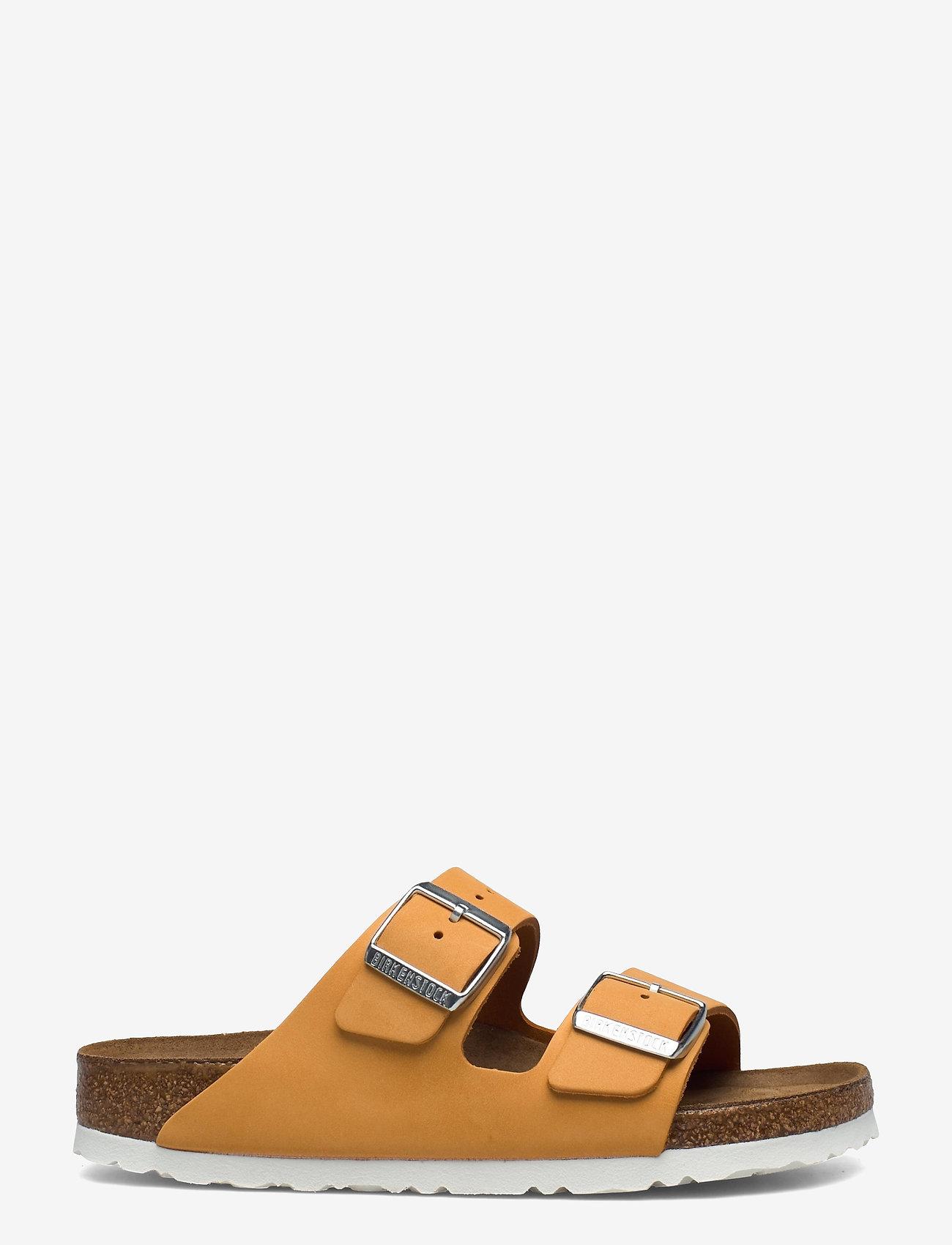 Birkenstock - Arizona Soft Footbed - flade sandaler - apricot - 1