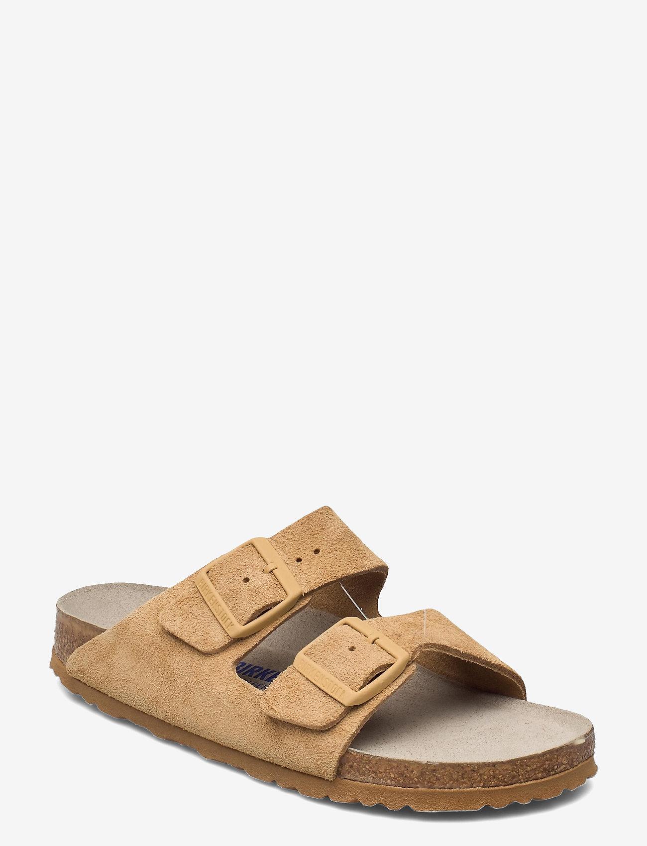 Birkenstock - Arizona Soft Footbed - flade sandaler - latte cream - 0