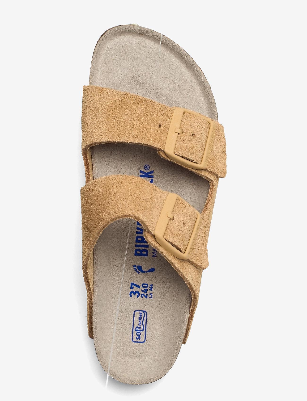 Birkenstock - Arizona Soft Footbed - flade sandaler - latte cream - 3