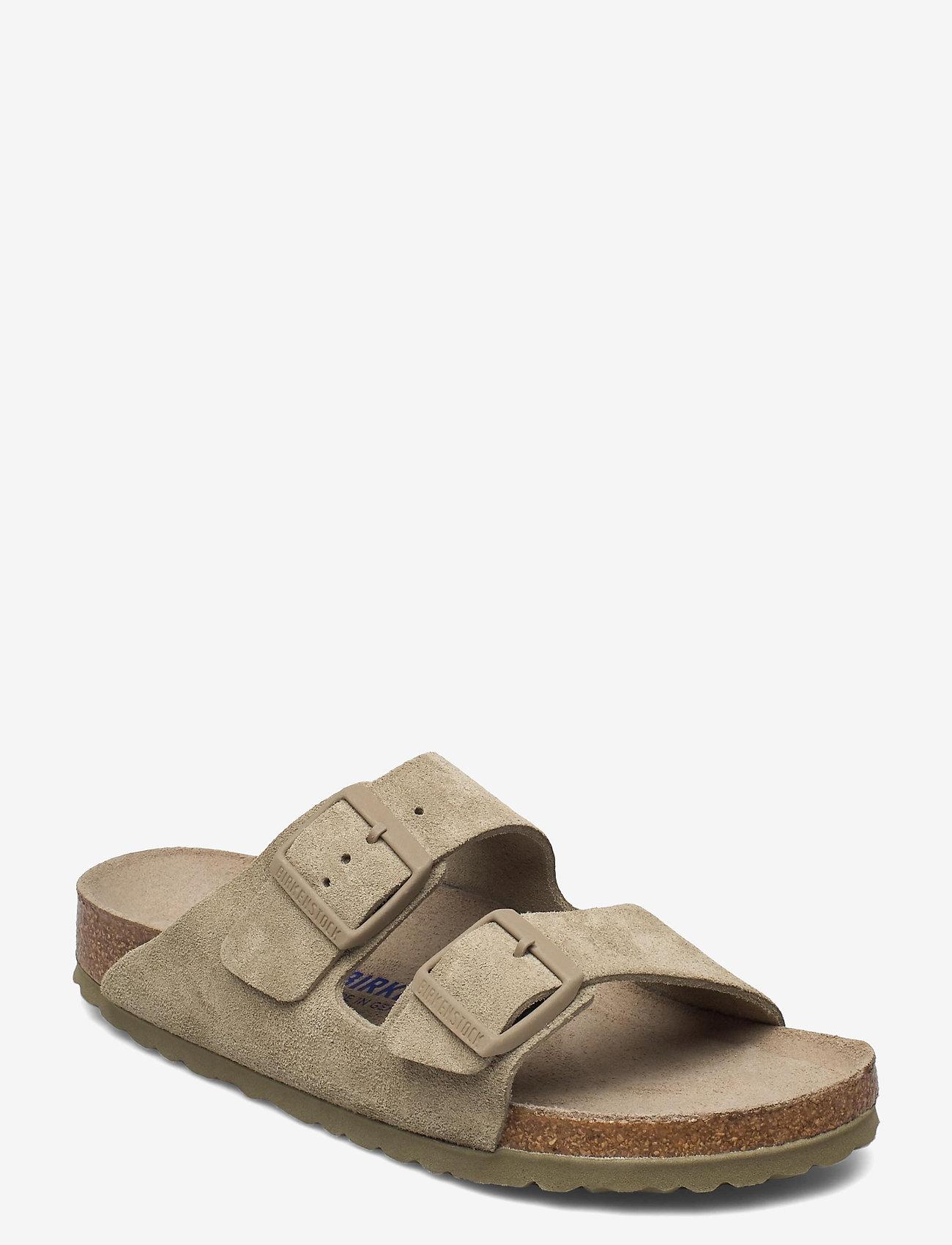 Birkenstock - Arizona Soft Footbed - flade sandaler - faded khaki - 0