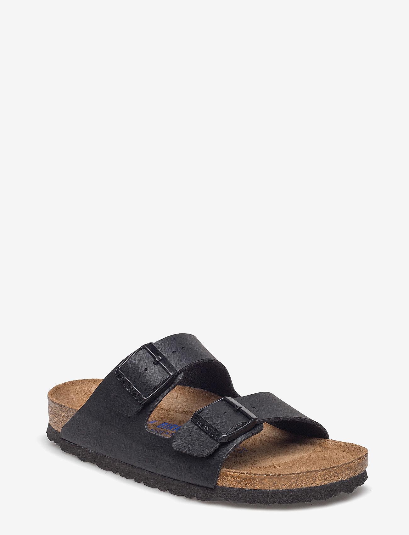 Birkenstock - Arizona Soft Footbed - platta sandaler - black - 0