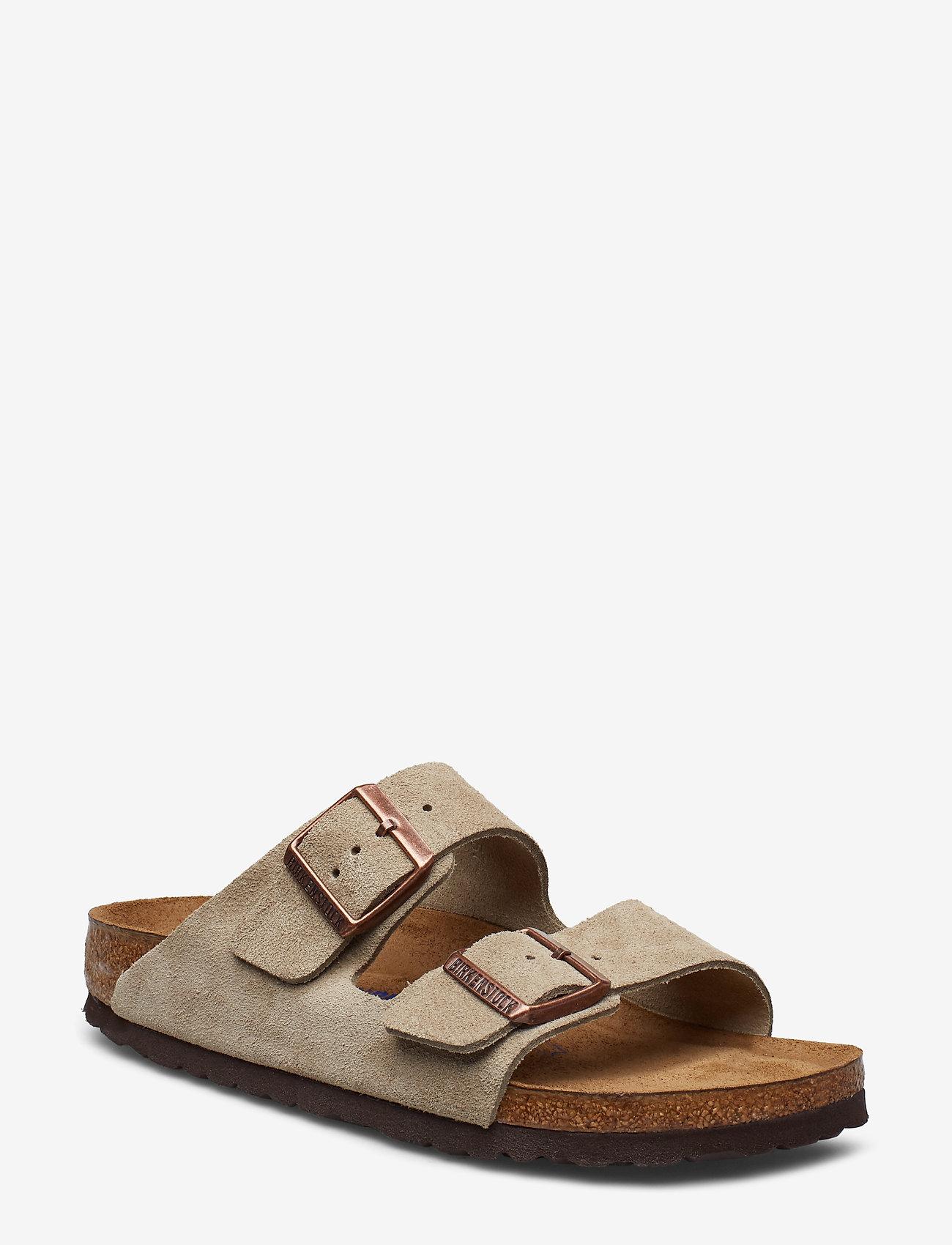 Birkenstock - Arizona Soft Footbed - flade sandaler - taupe - 0