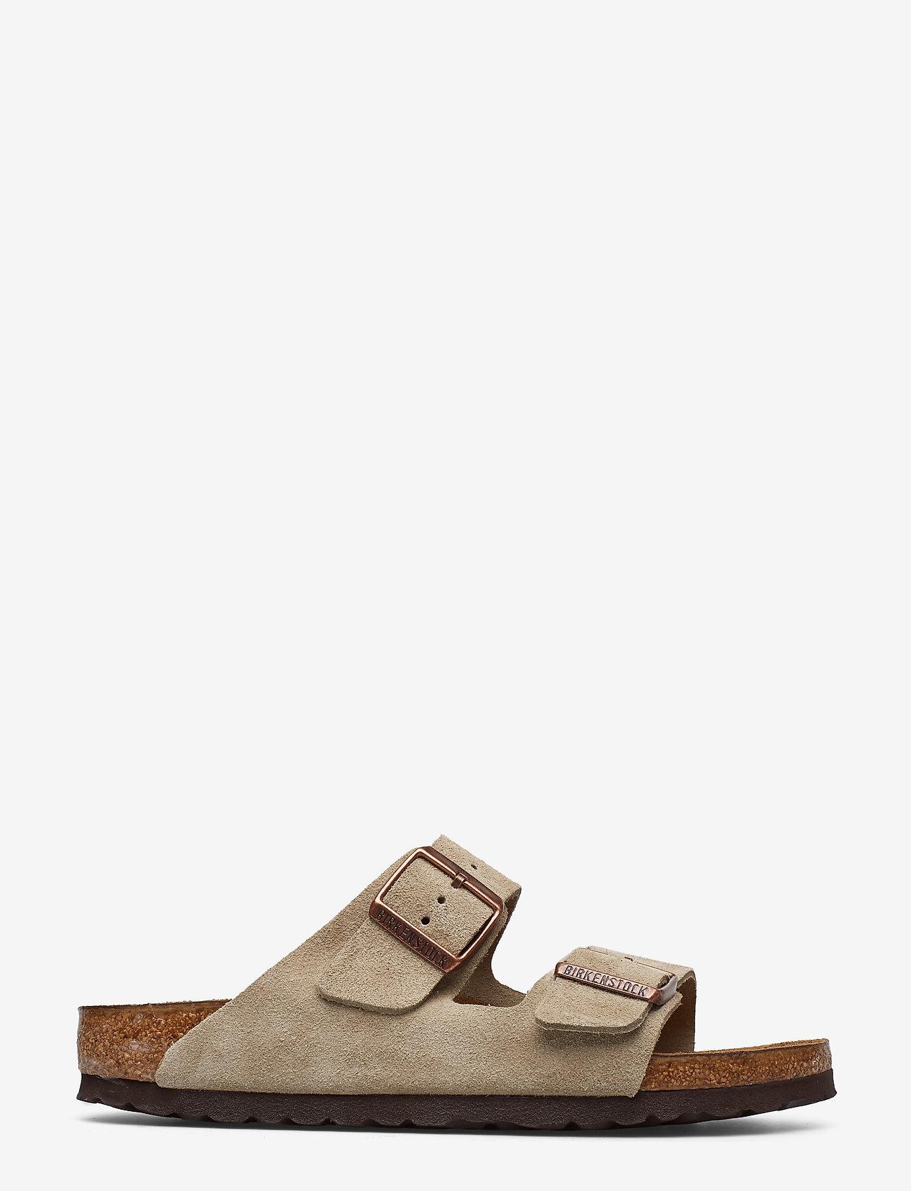 Birkenstock - Arizona Soft Footbed - flade sandaler - taupe - 1