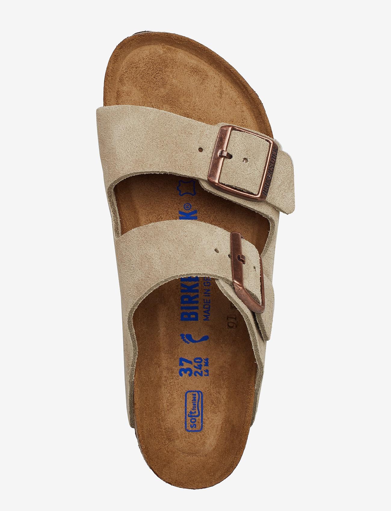 Birkenstock - Arizona Soft Footbed - flade sandaler - taupe - 3